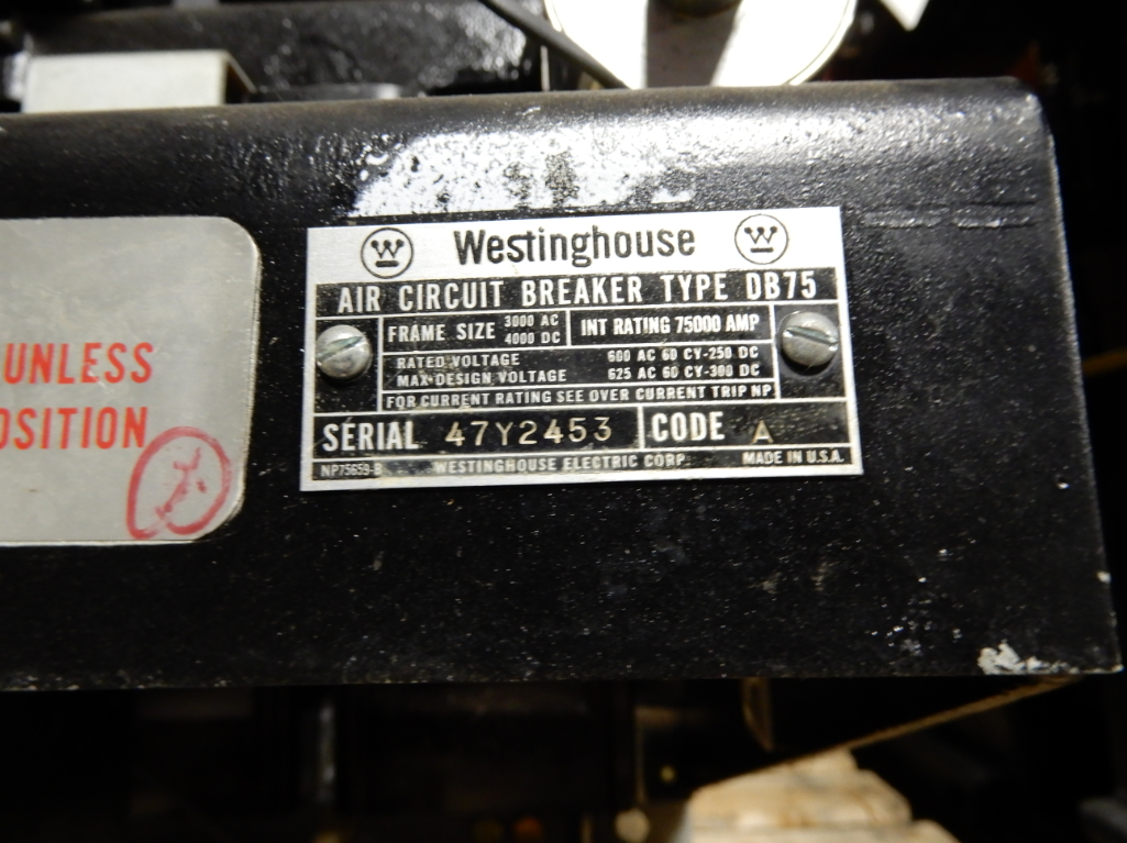 A Westinghouse DB75 air circuit breaker.